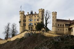 Castello di Hohenschwangau in Baviera Fotografie Stock
