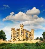 Castello di Hohenschwangau nelle alpi bavaresi, Germania Fotografia Stock
