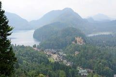 Castello di Hohenschwangau nelle alpi bavaresi, Germania Immagine Stock Libera da Diritti