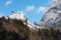 Castello di Hohenwerfen in Austria Immagini Stock