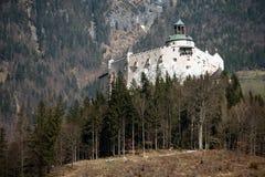 Castello di Hohenwerfen in Austria Fotografie Stock Libere da Diritti