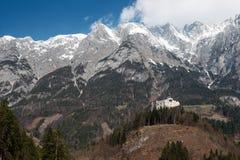 Castello di Hohenwerfen in Austria Fotografia Stock Libera da Diritti