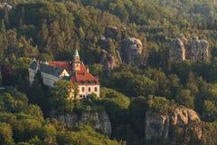 Castello di Hruba Skala Immagine Stock