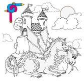 Castello di immagine di coloritura Fotografia Stock