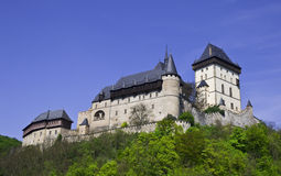 Castello di Karlstein nella Repubblica ceca Fotografia Stock Libera da Diritti