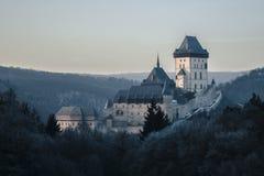 Castello di Karlstejn Immagini Stock Libere da Diritti