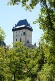 Castello di Karlstejn, Repubblica ceca immagini stock libere da diritti