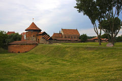 Castello di Kaunas in Lituania fotografie stock libere da diritti