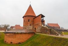 Castello di Kaunas, un castello medievale situato a Kaunas fotografie stock libere da diritti