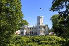 Castello di Keila Joa in Estonia Fotografia Stock