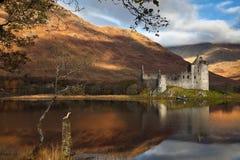 Castello di Kilchurn su timore del Loch Fotografie Stock Libere da Diritti