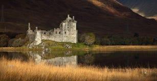 Castello di Kilchurn su timore del Loch Fotografia Stock Libera da Diritti