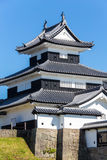 Castello di Komine a Fukushima nel Giappone Fotografia Stock Libera da Diritti