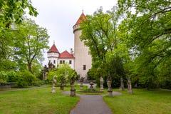 Castello di Konopiste in Boemia, repubblica Ceca fotografia stock libera da diritti