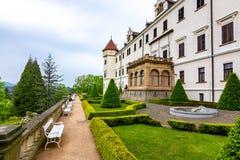 Castello di Konopiste in Boemia, repubblica Ceca fotografia stock