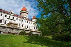 Castello di Konopiste vicino a Praga, Benesov, repubblica Ceca fotografia stock