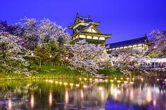 Castello di Koriyama Fotografia Stock