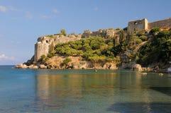 Castello di Koroni a Messinia, Grecia fotografia stock