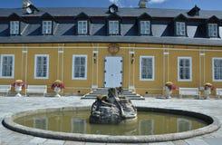 Castello di Kozel di caccia - vista della fontana Fotografia Stock
