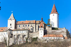 Castello di Krivoklat Fotografia Stock