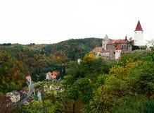 Castello di Krivoklat in autunno fotografie stock libere da diritti