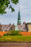 Castello di Kronborg, Helsingor, Danimarca fotografie stock libere da diritti