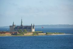 Castello di Kronborg a Helsingor, Danimarca Fotografia Stock Libera da Diritti