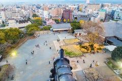 Castello di Kumamoto, Giappone, Kumamoto - 6 dicembre 2014 Immagini Stock