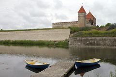 Castello di Kuressaare in Saaremaa Fotografia Stock Libera da Diritti