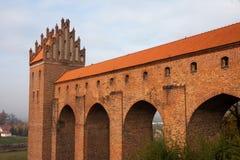 Castello di Kwidzin in Polonia fotografia stock