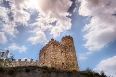 Castello di LÃjar in AlmerÃa Spagna fotografia stock