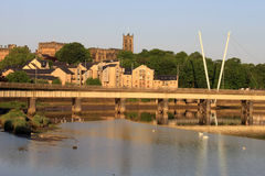 Castello di Lancaster della chiesa del Priory del ponticello del levriero Fotografia Stock