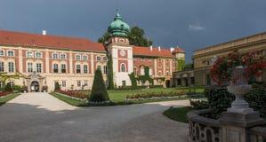 Castello di Lancut, Polonia vecchio palazzo storico Fotografia Stock Libera da Diritti