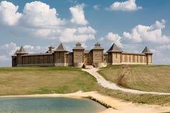 Castello di legno sulla collina Fotografie Stock