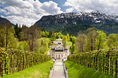 Castello di Linderhof Immagini Stock