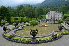 Castello di Linderhof, Germania Immagine Stock