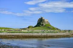 Castello di Lindisfarne Il Regno Unito immagini stock libere da diritti