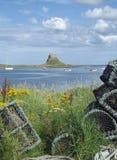 Castello di Lindisfarne, isola santa immagine stock libera da diritti