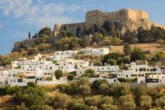Castello di Lindos Immagini Stock Libere da Diritti