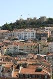 Castello di Lisbona immagini stock libere da diritti