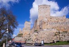 The Castello di Lombardia, Enna Stock Photos