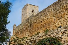 Castello di Lombardia medieval castle in Enna, Sic. Castello di Lombardia medieval castle in Enna town, Sicily, Italy Stock Photos