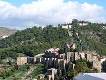 Castello di Malaga Gibralfaro Fotografie Stock Libere da Diritti