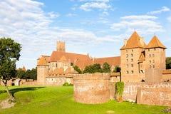 Castello di Malbork Immagini Stock