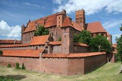 Castello di Malbork fotografie stock libere da diritti