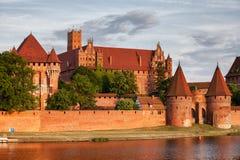 Castello di Malbork Fotografia Stock Libera da Diritti