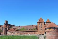Castello di Malbork di panorama. La Polonia immagine stock libera da diritti