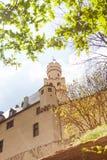 Castello di Marksburg in Germania al giorno di molla soleggiato Fotografie Stock Libere da Diritti
