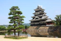 Castello di Mastumoto a Matsumoto, Giappone Fotografie Stock Libere da Diritti