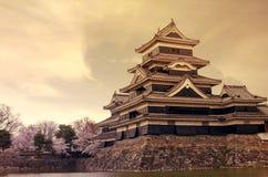 Castello di Matsumoto Immagini Stock